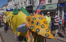 Samba band at the Eel parade in Ely